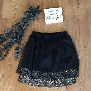 Fun black skirt with sequin embellishment